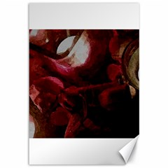 Dark Red Candlelight Candles Canvas 12  X 18   by yoursparklingshop