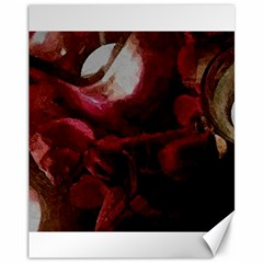 Dark Red Candlelight Candles Canvas 11  X 14   by yoursparklingshop