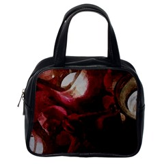Dark Red Candlelight Candles Classic Handbags (one Side) by yoursparklingshop