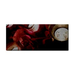 Dark Red Candlelight Candles Cosmetic Storage Cases by yoursparklingshop
