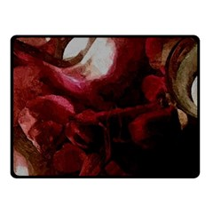 Dark Red Candlelight Candles Fleece Blanket (small) by yoursparklingshop