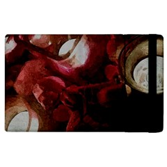 Dark Red Candlelight Candles Apple Ipad 2 Flip Case by yoursparklingshop