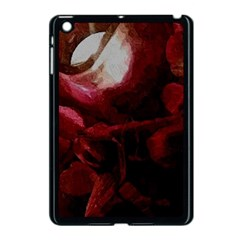 Dark Red Candlelight Candles Apple Ipad Mini Case (black) by yoursparklingshop