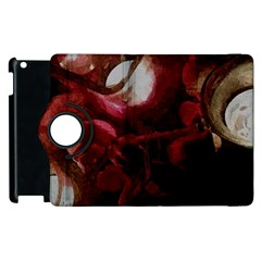 Dark Red Candlelight Candles Apple Ipad 3/4 Flip 360 Case by yoursparklingshop
