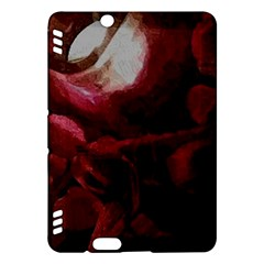 Dark Red Candlelight Candles Kindle Fire Hdx Hardshell Case by yoursparklingshop