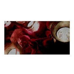 Dark Red Candlelight Candles Satin Wrap by yoursparklingshop