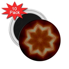 Christmas Flower Star Light Kaleidoscopic Design 2.25  Magnets (10 pack)  by yoursparklingshop