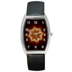 Christmas Flower Star Light Kaleidoscopic Design Barrel Style Metal Watch by yoursparklingshop