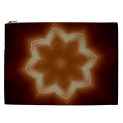 Christmas Flower Star Light Kaleidoscopic Design Cosmetic Bag (xxl)  by yoursparklingshop