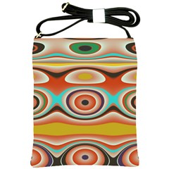 Oval Circle Patterns Shoulder Sling Bags by theunrulyartist
