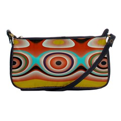 Oval Circle Patterns Shoulder Clutch Bags by theunrulyartist