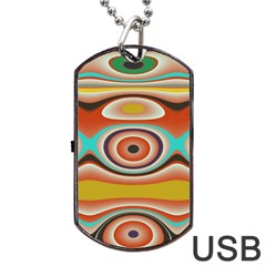 Oval Circle Patterns Dog Tag Usb Flash (one Side) by theunrulyartist