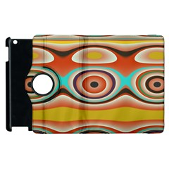 Oval Circle Patterns Apple Ipad 3/4 Flip 360 Case by theunrulyartist