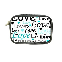 Love Pattern   Cyan Coin Purse by Valentinaart