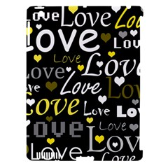 Yellow Love Pattern Apple Ipad 3/4 Hardshell Case (compatible With Smart Cover) by Valentinaart