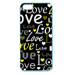 Yellow Love Pattern Apple Seamless Iphone 5 Case (color) by Valentinaart