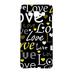 Yellow Love pattern Samsung Galaxy A5 Hardshell Case  by Valentinaart