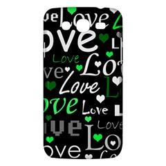 Green Valentine s Day Pattern Samsung Galaxy Mega 5 8 I9152 Hardshell Case  by Valentinaart