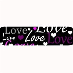 Valentine s Day Pattern   Purple Large Bar Mats by Valentinaart