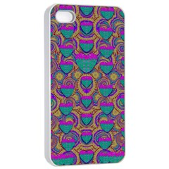 Merry Love In Heart  Time Apple Iphone 4/4s Seamless Case (white) by pepitasart