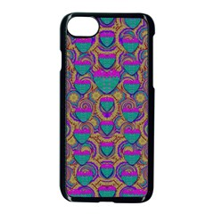 Merry Love In Heart  Time Apple Iphone 7 Seamless Case (black) by pepitasart