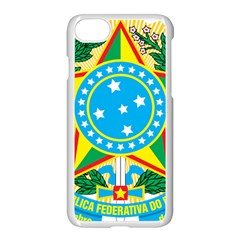 Coat of Arms of Brazil, 1971-1992 Apple iPhone 7 Seamless Case (White) by abbeyz71