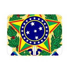 Coat Of Arms Of Brazil Double Sided Flano Blanket (mini)  by abbeyz71