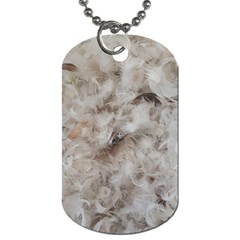 Down Comforter Feathers Goose Duck Feather Photography Dog Tag (one Side) by yoursparklingshop