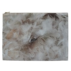 Down Comforter Feathers Goose Duck Feather Photography Cosmetic Bag (xxl)  by yoursparklingshop