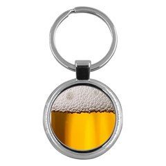 Beer Foam Yellow Key Chains (round)  by AnjaniArt