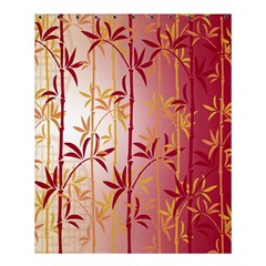 Bamboo Tree New Year Red Shower Curtain 60  X 72  (medium)  by AnjaniArt