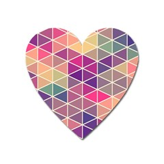 Chevron Colorful Heart Magnet by AnjaniArt