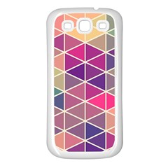 Chevron Colorful Samsung Galaxy S3 Back Case (white) by AnjaniArt