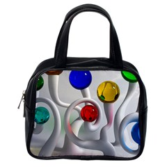 Colorful Glass Balls Classic Handbags (one Side) by AnjaniArt