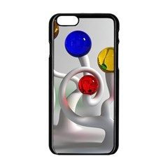 Colorful Glass Balls Apple Iphone 6/6s Black Enamel Case by AnjaniArt