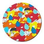 Bear Umbrella Round Mousepads