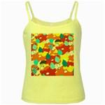 Bear Umbrella Yellow Spaghetti Tank
