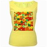 Bear Umbrella Women s Yellow Tank Top