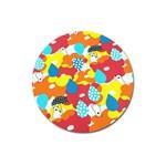 Bear Umbrella Magnet 3  (Round)