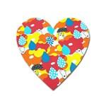 Bear Umbrella Heart Magnet