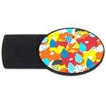 Bear Umbrella USB Flash Drive Oval (2 GB)
