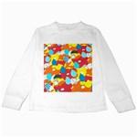 Bear Umbrella Kids Long Sleeve T-Shirts