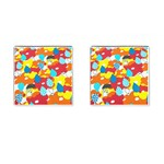 Bear Umbrella Cufflinks (Square)