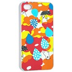 Bear Umbrella Apple iPhone 4/4s Seamless Case (White)