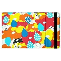 Bear Umbrella Apple Ipad 2 Flip Case by AnjaniArt