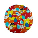 Bear Umbrella Standard 15  Premium Flano Round Cushions