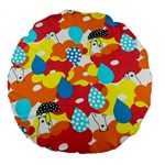 Bear Umbrella Large 18  Premium Flano Round Cushions