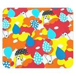 Bear Umbrella Double Sided Flano Blanket (Small)