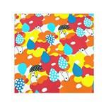 Bear Umbrella Small Satin Scarf (Square)