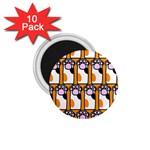 Cute Cat Hand Orange 1.75  Magnets (10 pack)